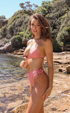 Annabelle Bikini Bottom In Rose Metallic