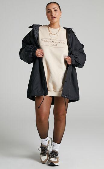 Sunday Society Club - Kiana Oversized Sweat Dress in Beige