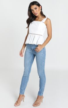 News To Me Top In White