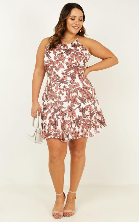 Got To Live Dress In Dusty Rose Floral