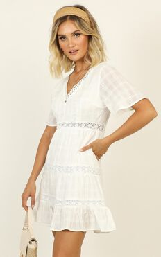 Troubled Waters Dress In White