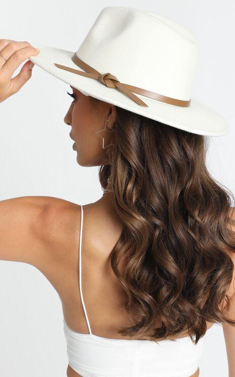 Milly Felt Hat In White