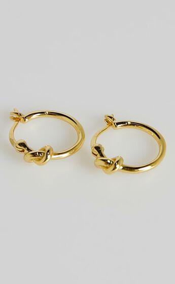 Izoa - Pretzel Hoop Earrings in Gold