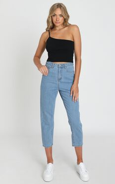 Bec Jeans In Light Vintage Wash Denim