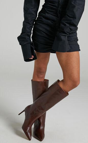 Alias Mae - Connie Boots in Choc Leather