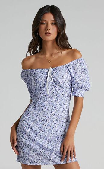 Evans Dress in Blue Floral