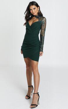 Julianna Dress In Emerald Lace