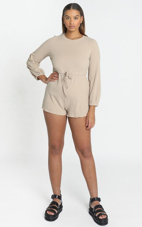 Aleandra Playsuit in Beige