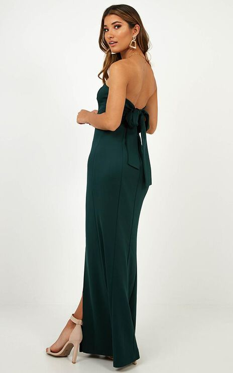 Look Sharp Dress In Emerald
