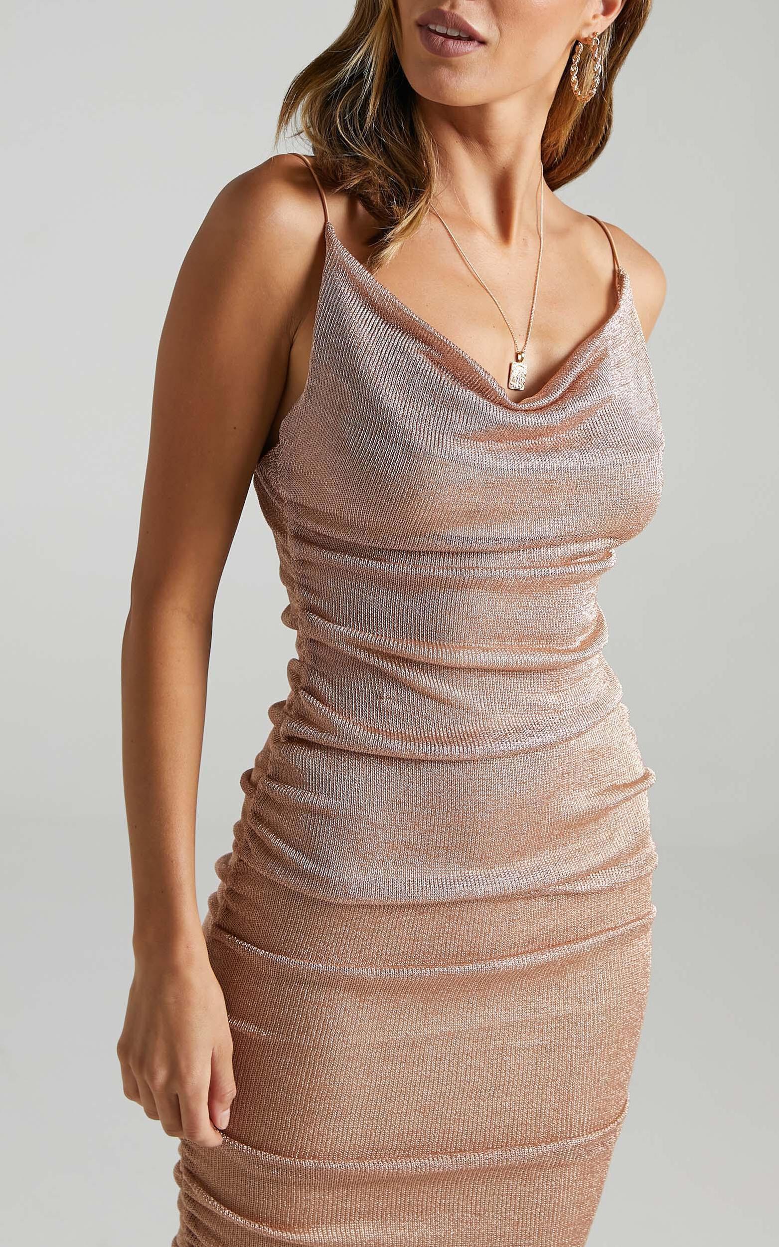 Nellie Dress in Gold Lurex - 06, GLD1, super-hi-res image number null