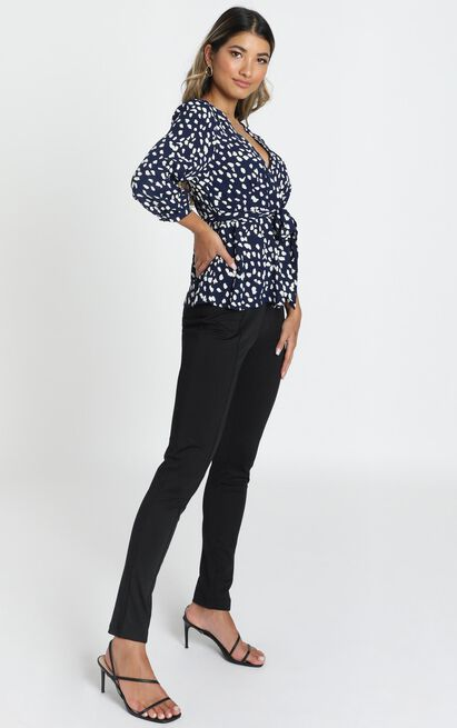 Arianna Top in navy - 6 (XS), Navy, hi-res image number null
