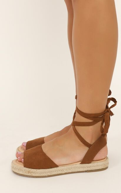 Therapy - Dauphin Sandals in tan micro - 10, Tan, hi-res image number null