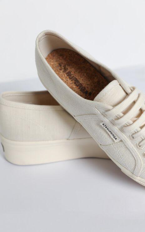 Superga - 2790 Organic Cotton Platform Sneaker in Natural Beige