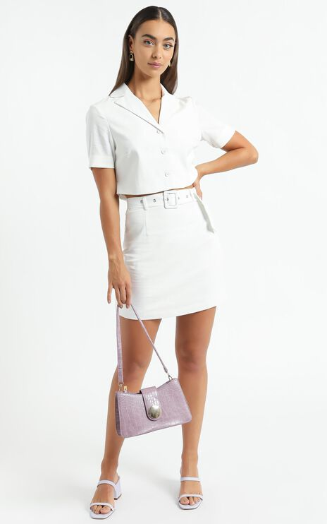 Elie Two Piece Set in White