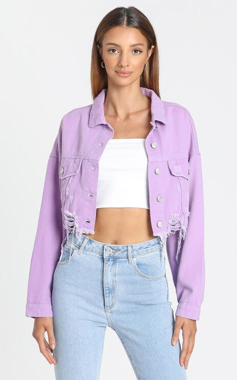 Julianne Jacket In Lavender