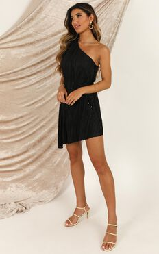 The Good Times Dress In Black Pleat