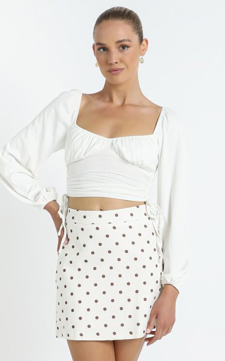Lavo Skirt in White Spot