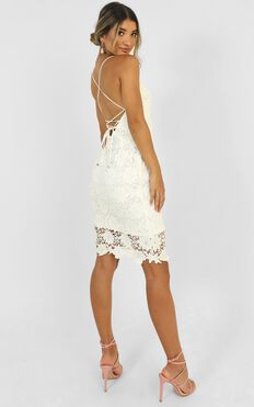 Ive Arrived Dress In White Lace