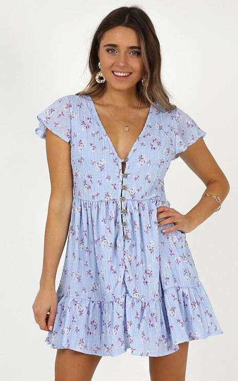The World Is Ours Dress In Lilac Floral