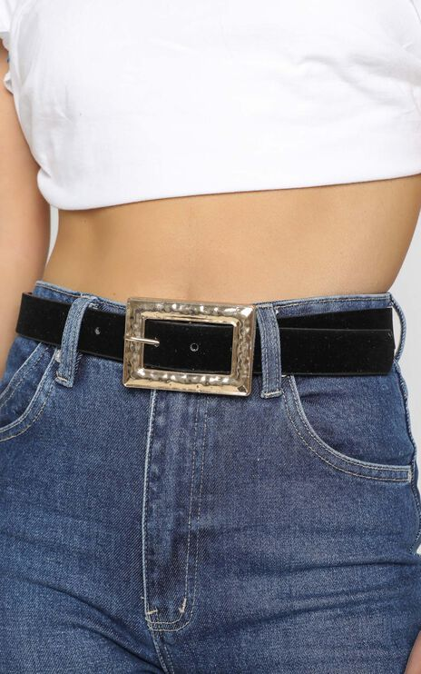 Sammy Belt in Black and Gold