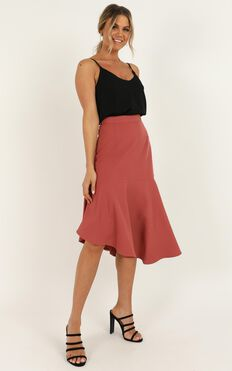 Mentor Goals Skirt In Dusty Rose