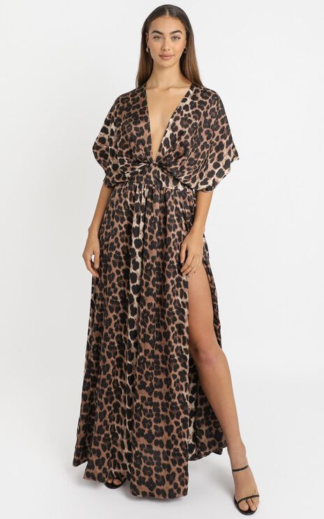 Vacay Ready Maxi Dress in Leopard Print