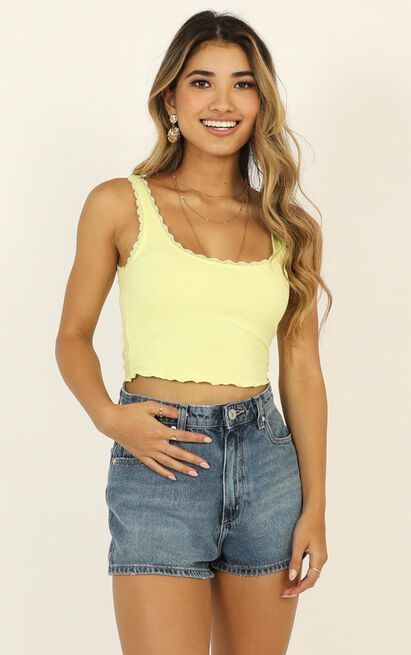 Problem Child Top in yellow - 12 (L), Yellow, hi-res image number null