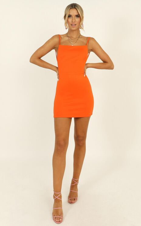 Here In Paradise Dress In Orange