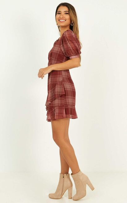 Chill Zone Dress in rust check - 20 (XXXXL), Rust, hi-res image number null