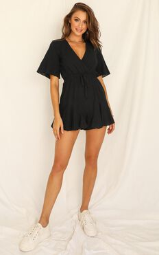 Pictures in My Head Playsuit In Black