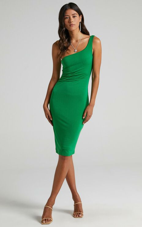 Got Me Looking Dress In Jade