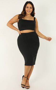 Start Feeling Two Piece Set In Black
