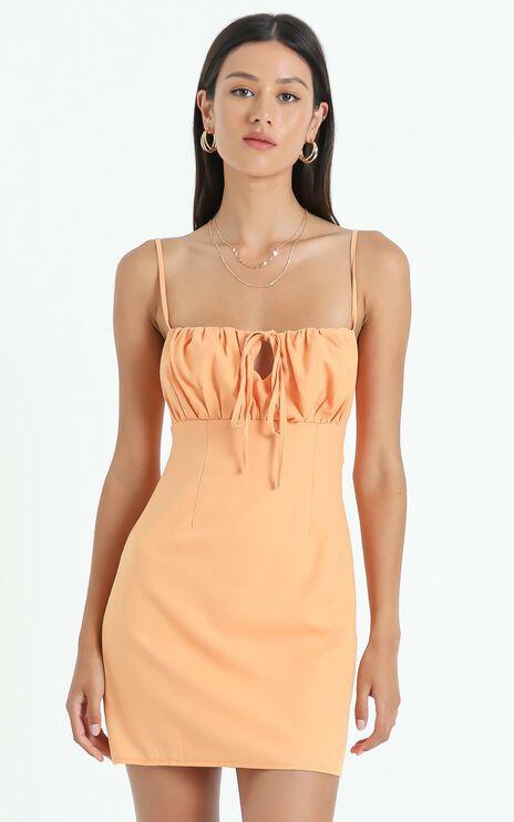 Break Free With Me Dress In Sherbet Linen Look