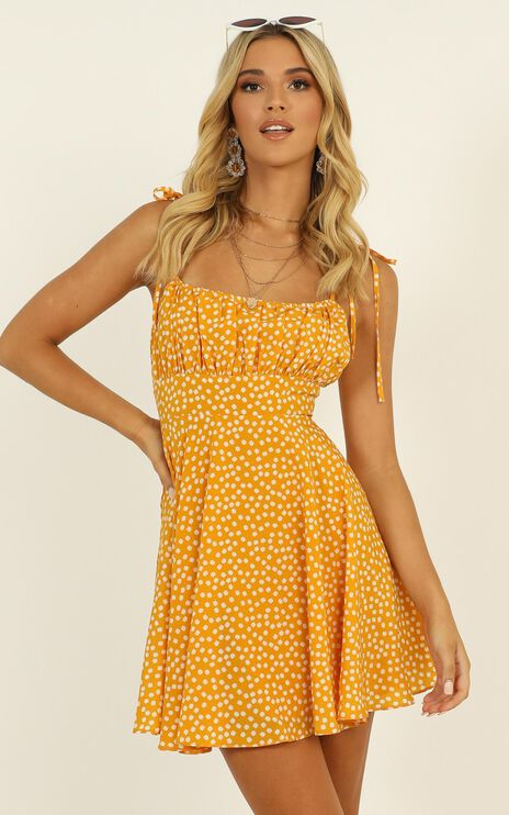 Summer Jam Dress In Yellow Floral