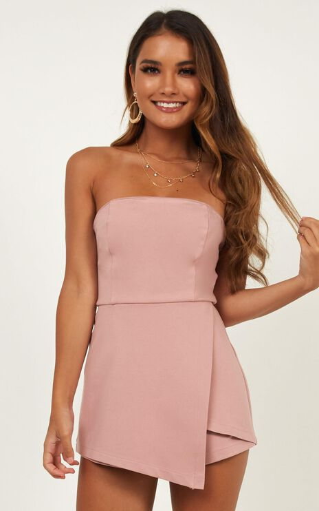 Caught My Eyes Playsuit In Blush