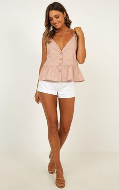 Magic Spell Top In Blush Linen Look