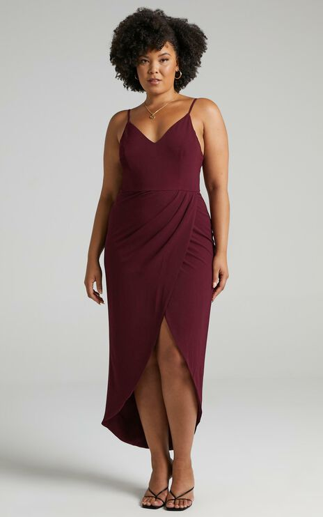 Lucky Day Maxi Dress in Wine