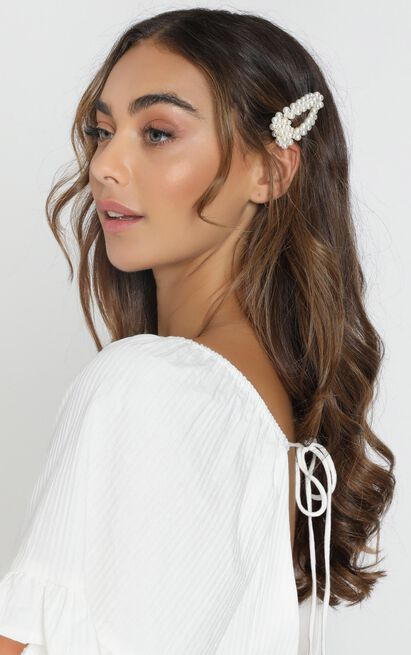Find Love Hair Clip In Pearl, , hi-res image number null