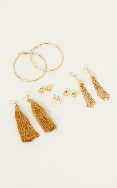 Call You Baby Earring Set In Gold, , hi-res image number null