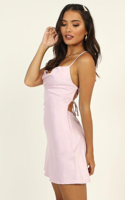 Before Your Time Dress in lilac satin - 12 (L), Purple, hi-res image number null