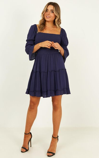 A Good Name Dress in navy - 20 (XXXXL), Navy, hi-res image number null