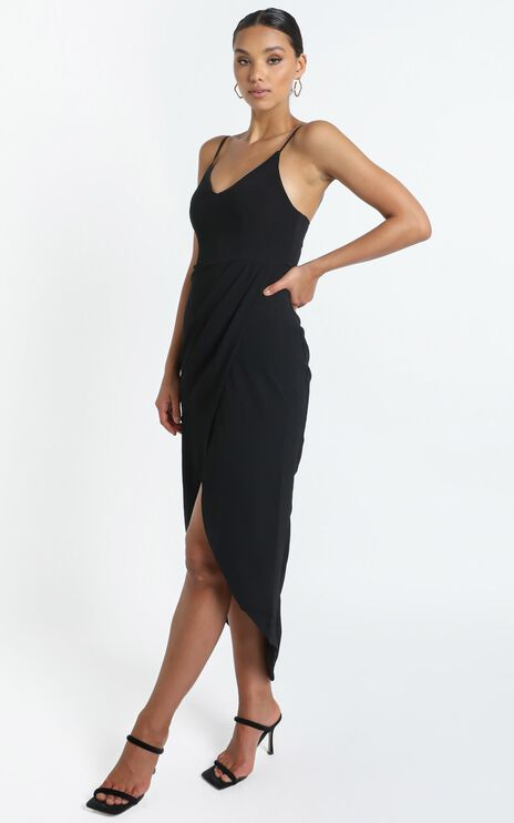 Lucky Day Maxi Dress in Black