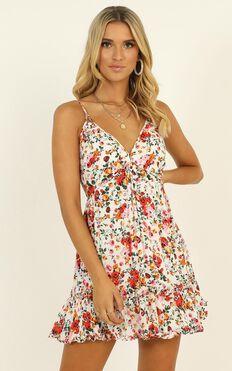 Alessia Dress In Multi Floral