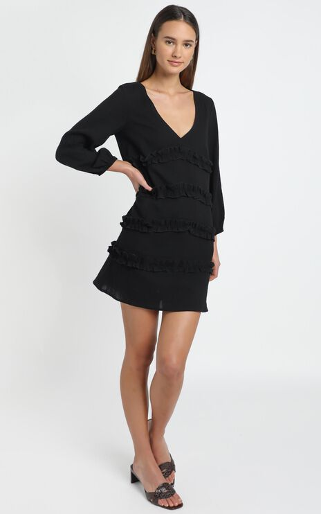 Sweetest Cheer Dress in black