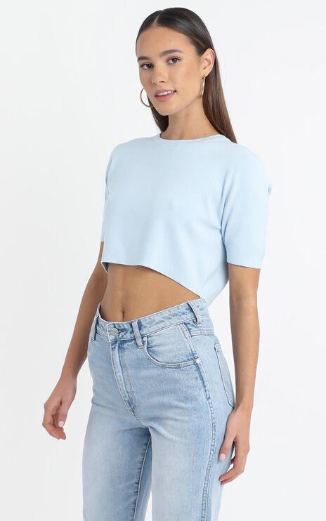 Augusta Top in Blue