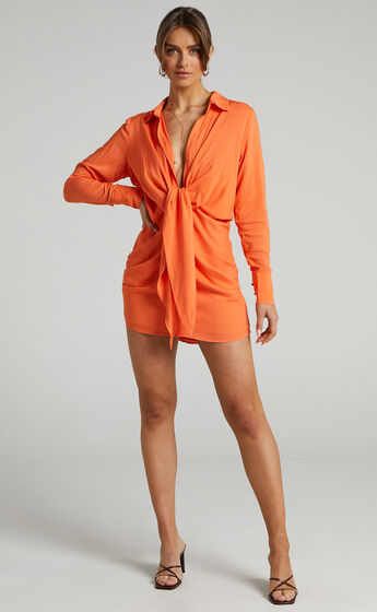 Runaway The Label - Rayon Ruby Dress in Nectarine