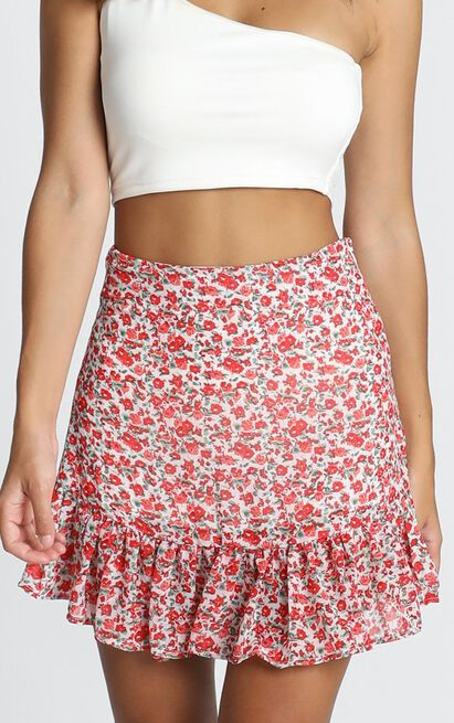 Just Your Average Skirt In white floral - 20 (XXXXL), White, hi-res image number null