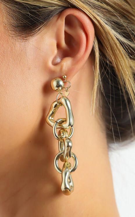 Drop Down Earrings in Gold