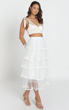 Last Goodbye Skirt In White