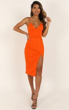 Big Ideas Dress In Tangerine